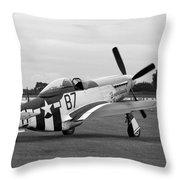 P51 Mustang Throw Pillow