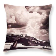P51 Ray Of Hope Throw Pillow