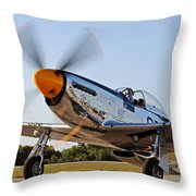 P51 The Brat Throw Pillow