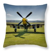 P51d Mustang Hdr Throw Pillow