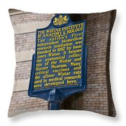 Pa-129 The Wistar Institute Of Anatomy And Biology Throw Pillow