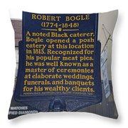 Pa-131 Robert Bogle 1774-1848 Throw Pillow