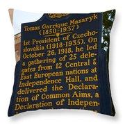 Pa-132 Tomas Garrigue Masaryk 1850-1937 Throw Pillow