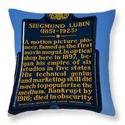 Pa-133 Siegmund Lubin 1851-1923 Throw Pillow