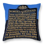 Pa-134 Robert Cornelius Throw Pillow