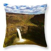 Pa Louse Falls Throw Pillow