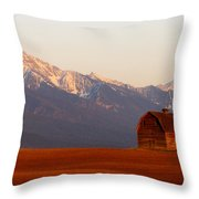 Pablo Barn And Mission Range Throw Pillow