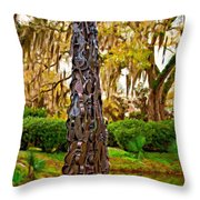 Pablo Casals' Oblisk Oil Throw Pillow