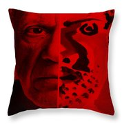 Pablo Red Throw Pillow