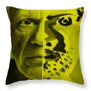 Pablo Yellow Throw Pillow