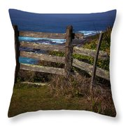 Pacific Coast Fence Throw Pillow