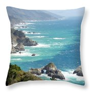 Pacific Coast Highway Mini Arch Rock Throw Pillow