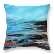 Pacific Coast Northwest Storm Throw Pillow