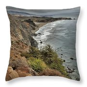 Pacific Coast Storm Clouds Throw Pillow