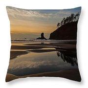 Pacific Coast Sunset Throw Pillow