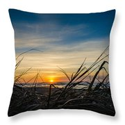 Pacific Coast Sunset Throw Pillow by Puget  Exposure