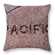 Pacific Concrete Street Sign Throw Pillow