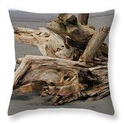 Pacific Driftwood II Throw Pillow