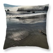 Pacific Fog Throw Pillow by Adam Jewell