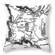 Pacific Grove And Vicinity  Monterey Peninsula California  Circa 1880 Throw Pillow
