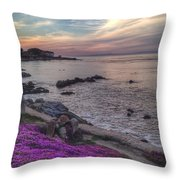 Sunset In Pacific Grove Throw Pillow