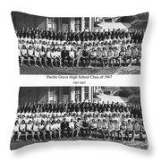 Pacific Grove California  High School  Class Of 1967 Throw Pillow