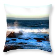 Pacific Grove Surf 19894 Throw Pillow