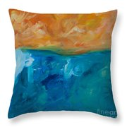 Pacific Isle Sunset Throw Pillow