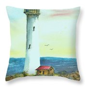 Pacific Lighthouse Throw Pillow