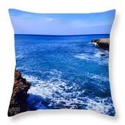 Pacific Ocean And Lava Throw Pillow