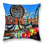 Pacific Park On The Pier Throw Pillow