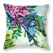 Pacific Parrotlets Throw Pillow
