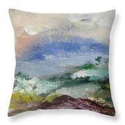 Pacific Rainbow Throw Pillow