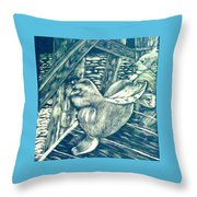 Pacific Sea Lions Throw Pillow