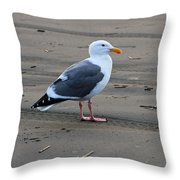 Pacific Seagull Throw Pillow