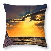 Pacific Sunset By Diana Sainz Throw Pillow