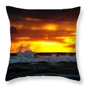 Pacific Sunset Drama Throw Pillow