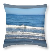 Pacific Surfer Throw Pillow