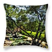 Pacifica Courtyard Throw Pillow