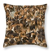 Pack Of Hound Dogs Throw Pillow