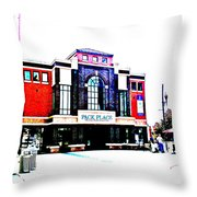 Pack Place Asheville In High Contrast Throw Pillow