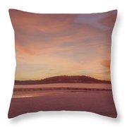 Pack River Delta Sunset  -  150125a-336 Throw Pillow