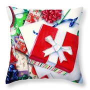 Packages Boxes And Bags Throw Pillow