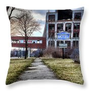 Packard Motel Throw Pillow