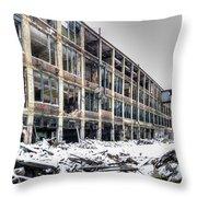 Packard Plant Detroit Michigan - 12 Throw Pillow
