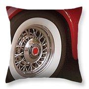 Packard Wheel Throw Pillow