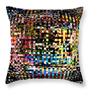 Pacman Gone Awry Throw Pillow
