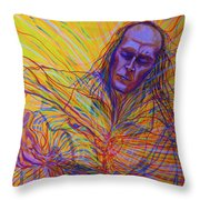 Paco De Lucia And Guardian Angel Throw Pillow