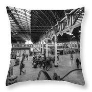 Paddington Station Bw Throw Pillow