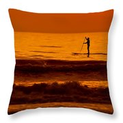 Paddle Board Throw Pillow